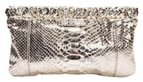 GERARD DAREL Snakeskin Evening Cocktail Handbag Gold Clutch
