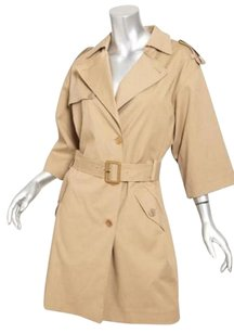 GERARD DAREL Womens Twill Belted Trench Jacket 36s Trench Coat