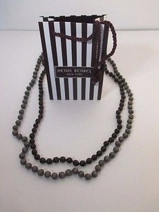 Gerard Yosca Gerard Yosca Brown Wood Bead Layering Necklace