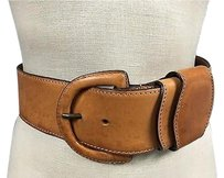 Gianfranco Ferre Gianfranco Ferre Womens Light Brown Leather Thick Fashion Belt B3381