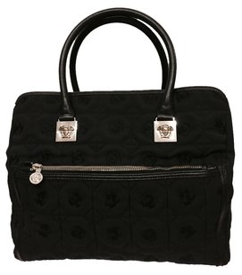 Versace Durable Artistic Detailed Black Travel Bag