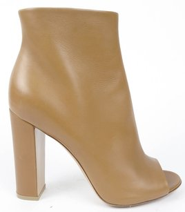 Gianvito Rossi Leather Zip Up Ankle Eu Almond Boots