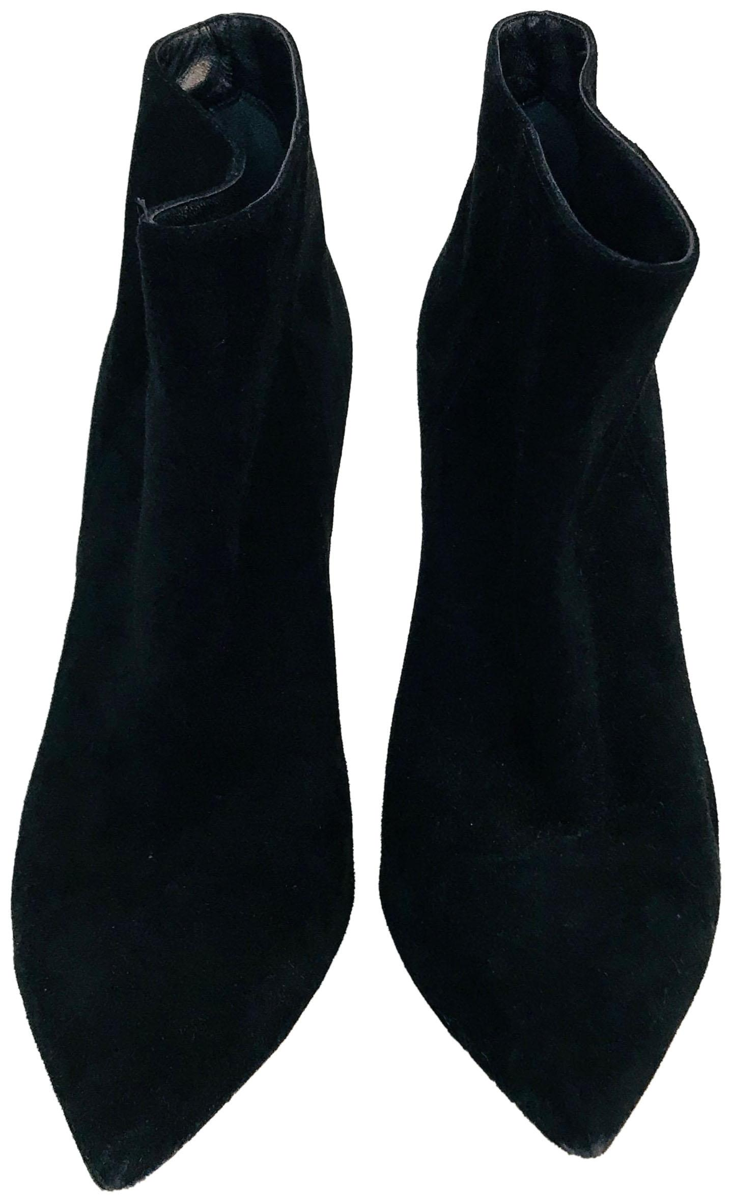 Gianvito Rossi Black Suede Pointed-toe Boots/Booties Size EU 37.5 (Approx. US 7.5) Regular (M, B)