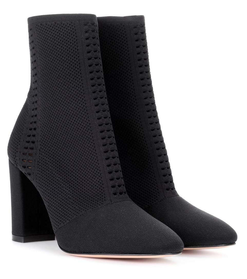 Gianvito Rossi Black Thurlow Knit Boots/Booties Size EU 39 (Approx. US 9) Regular (M, B)