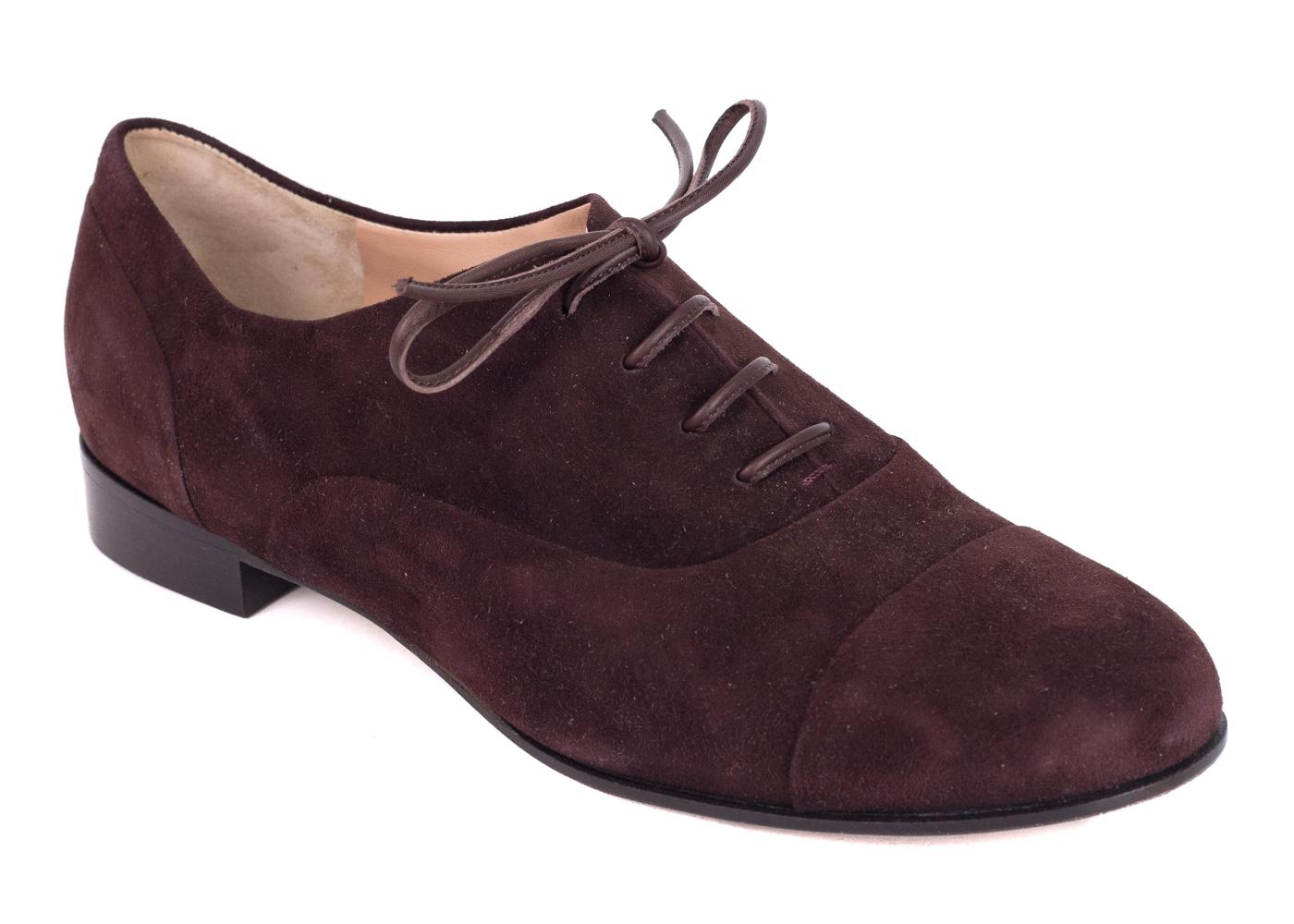 Gianvito Rossi Suede Round-Toe Oxfords shop for online kYKWO