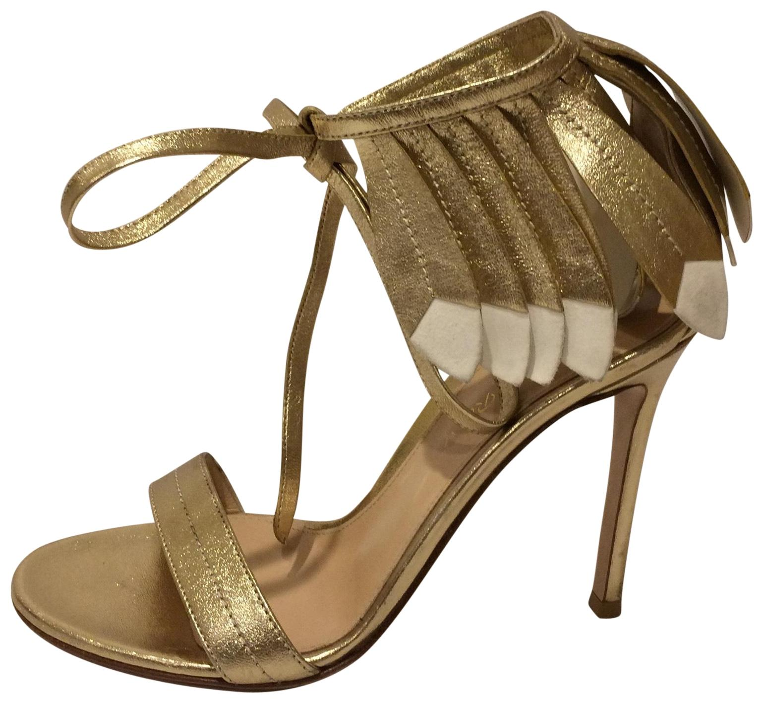 1e7d82b02adb9 Gianvito Rossi Gold New1 Ankle Strap Leather Sandals Sandals Sandals ...