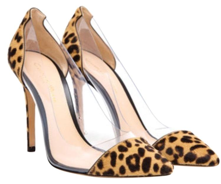 8427eef2b5f6 Gianvito Rossi Leopard Print Pvc Pvc Pvc Calf Hair Pumps Size EU 37  (Approx. US 7) Regular (M
