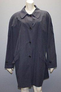 Giorgio Armani Navy Blend Button Front Raincoat Jacket Hs1786 Coat