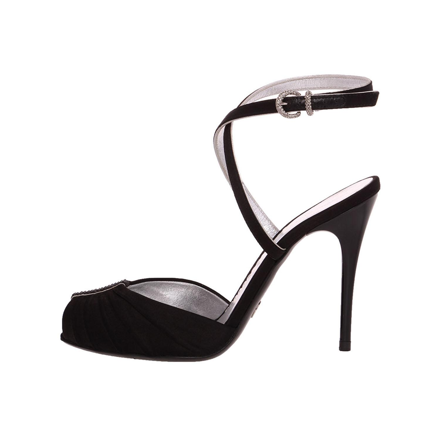 looking for for sale Giorgio Armani Satin Ankle-Strap Pumps free shipping for cheap MMcqC8IXm