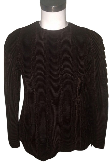 Preload https://item4.tradesy.com/images/giorgio-armani-brown-long-sleeve-blouse-size-4-s-3085588-0-0.jpg?width=400&height=650