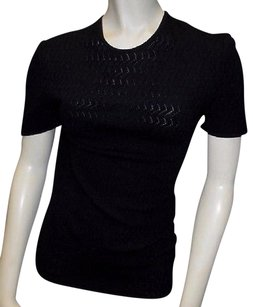Giorgio Armani 100 Wool Knitted Short Sleeve T Shirt Hs3011 Sweater