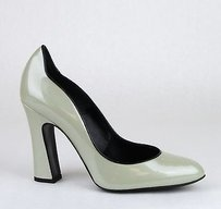 Giorgio Armani Patent Leather greenish silver Pumps