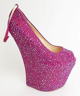 Giuseppe Zanotti Exaggerated Wedge Pump Max061046 Pink Platforms