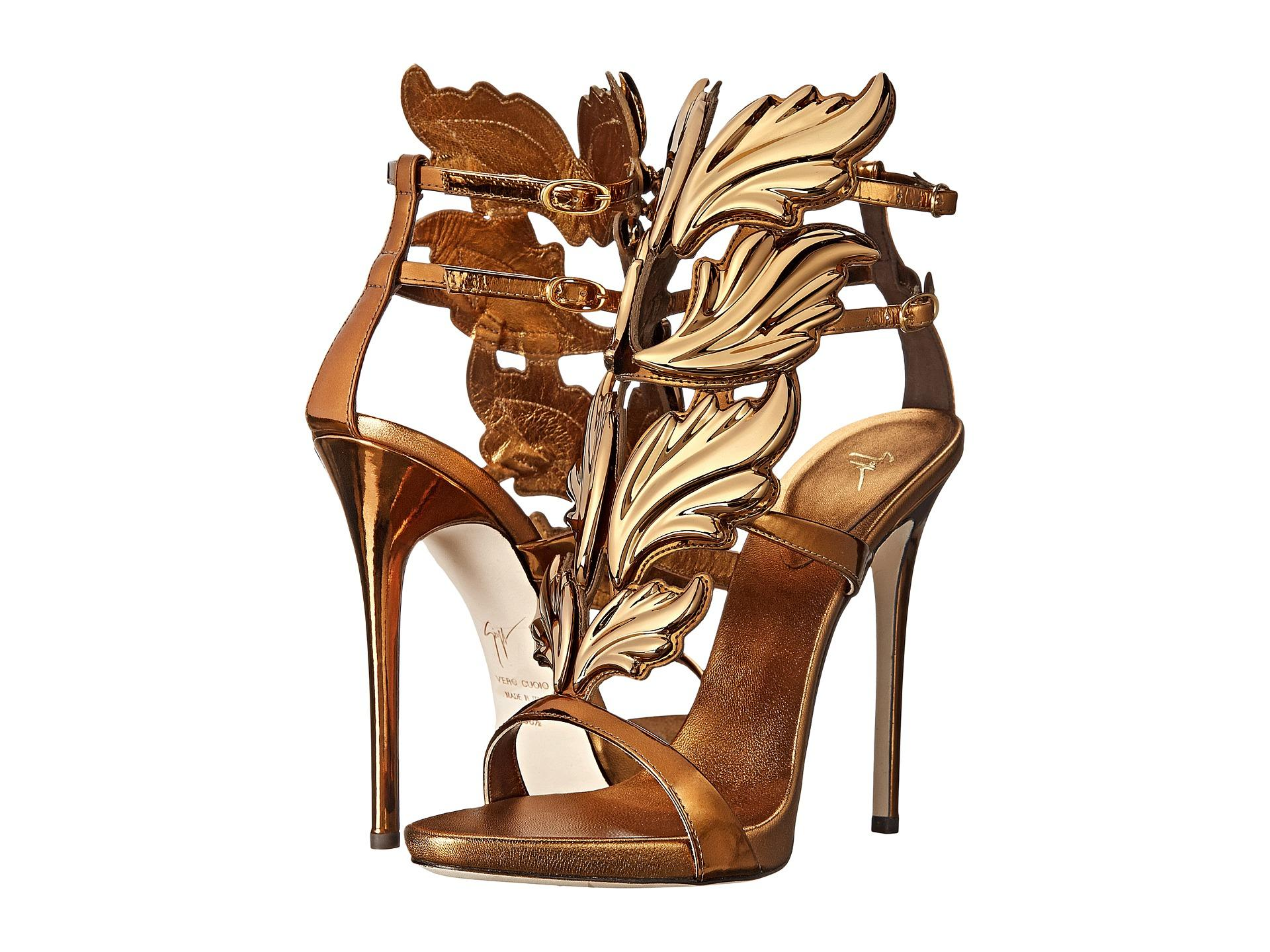 Giuseppe Zanotti Bronze Cruel Summer Sandals Heels 38/ Platforms Size US 8 Regular (M, B)