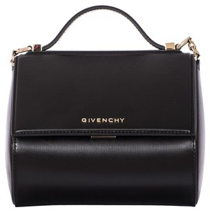 Givenchy Ballerina Hammered Leather Tote in Black