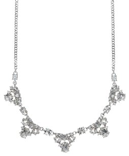 Givenchy Givenchy Silvertone Simulated Crystal Frontal Necklace