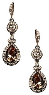 Givenchy Givenchy Teardrop Crystal and Medallion Earrings