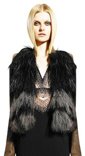 Givenchy New Fur Feather Leather Vest