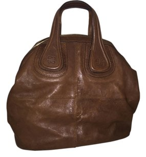 Givenchy Nightingale Designer Leather Satchel in Brown