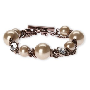Givenchy Rose Gold-Tone Faux Pearl Bracelet