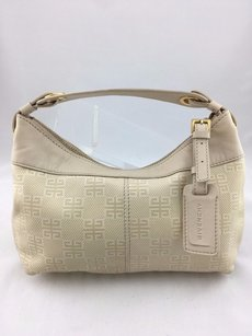 Givenchy Leather Suede Satchel in Cream