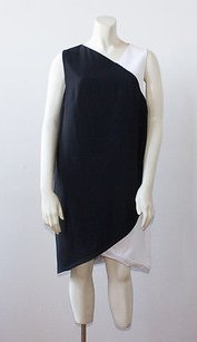 Givenchy short dress Multi-Color Black White Sleeveless Tiered Draped Shift Nwd Hs1690 on Tradesy
