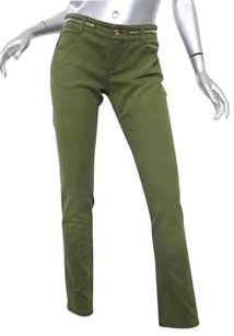 Givenchy Womens Olive Green Straight Leg Jeans
