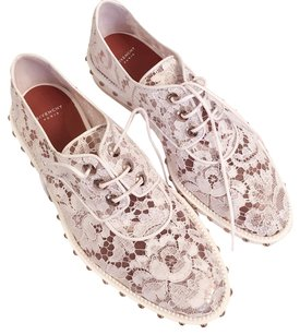 Givenchy White & Silver Flats
