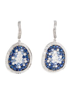 2.20ctw Sapphire And Diamond Earrings