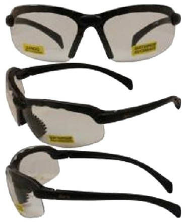 Global Vision C2 Safety Shop Glasses with Black Frame and Clear Lenses