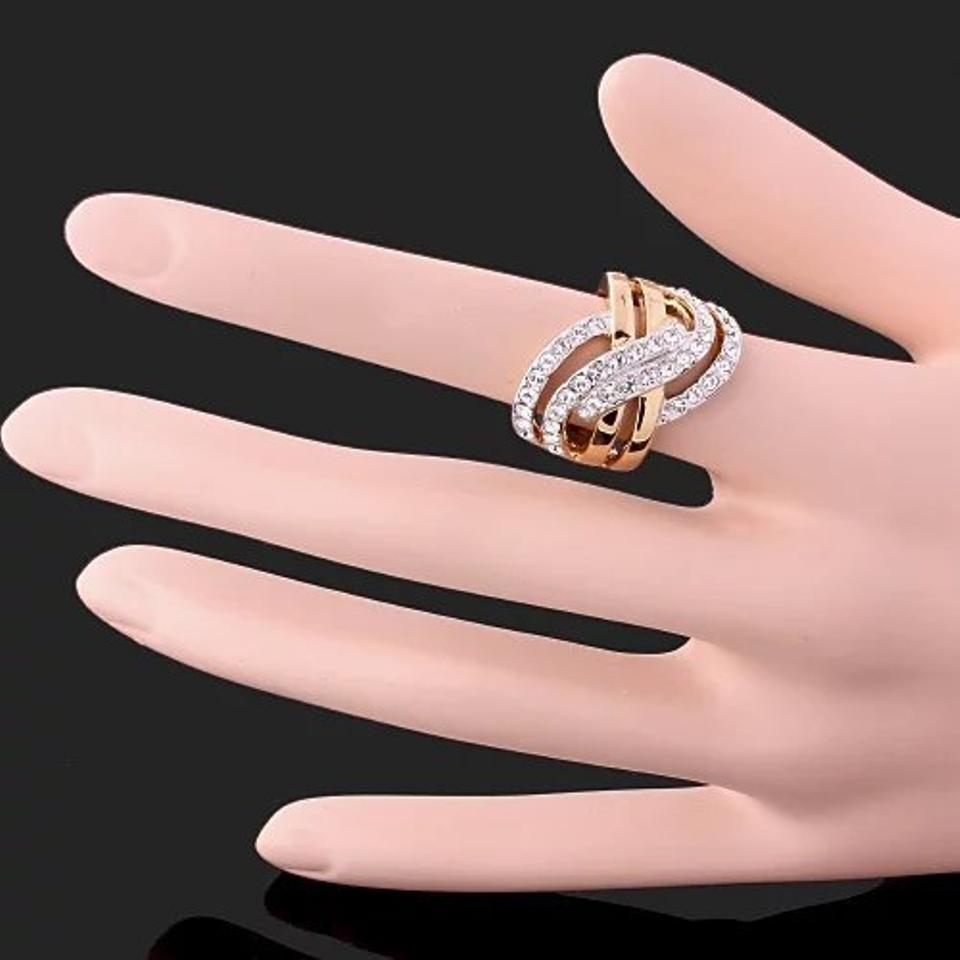 Gold #2737 Womens Vintage Rose Filled Cz Round Ring - Tradesy