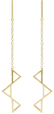 Preload https://item4.tradesy.com/images/gold-dropped-triangle-plated-earrings-22499753-0-3.jpg?width=440&height=440