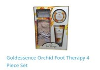 Goldessence Scrub, Lotion & Nail Brush Orchid 4pc Foot Therapy Set