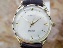 Gruen Gruen Solid Gold Swiss Made Mens Automatic Vintage 1960s Dress Watch Eb159