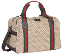 Gucci 374769 New Duffle Beige Travel Bag