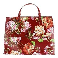 Gucci Bamboo Daily Blooms Top Tote in red