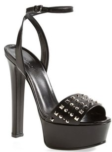 Gucci Leila Studded Platform Black Sandals