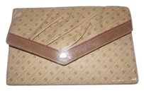 Gucci Anniversary coated canvas/leather in browns with red/green Clutch