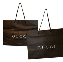 Gucci authentic monogram GUCCI brown paper shopping bag , small size Lot of 3 bags!!!