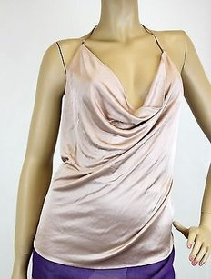 Gucci Backless champagne Halter Top