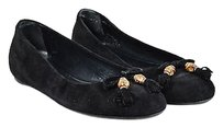 Gucci Suede Bamboo Bow Black Flats