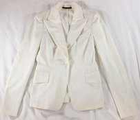 Gucci Sigh Notched Ivory Jacket