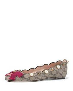 Gucci Beige pink red white pearl Flats