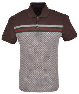 Gucci Men's Polo Polo T Shirt Brown