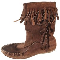 Gucci Brown Moccasin Boots