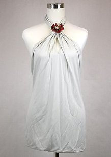 Gucci Womens Halter Wred Top Off White