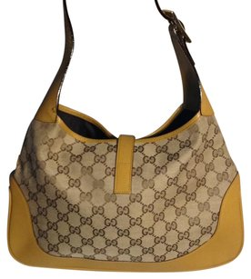 Gucci Canvas Gold Vintage Hobo Bag