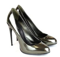 Gucci Leather Pump Metallic Pumps