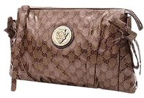 Gucci Gg Crystal Beige, ebony Clutch