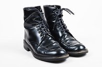 Gucci Leather Round Toe Black Boots